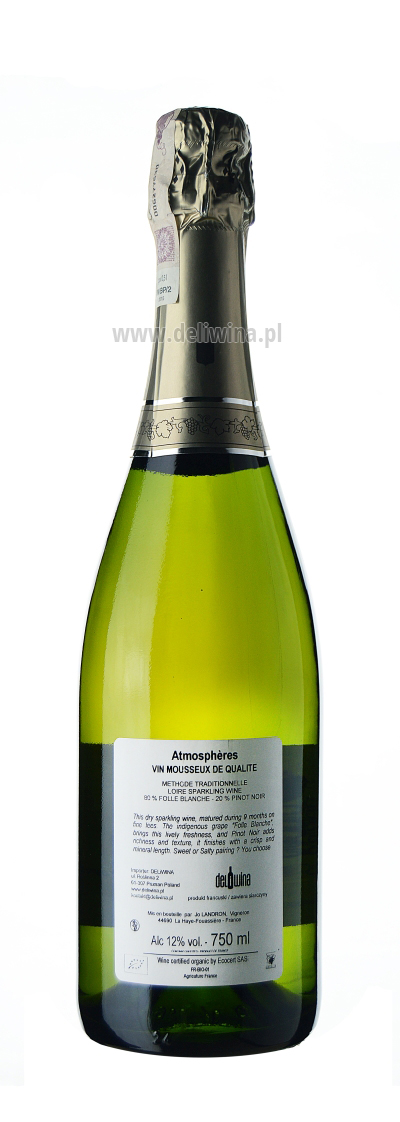 Vin Mousseux Brut Nature Atmospheres